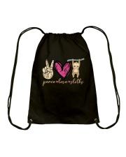 Peace Love Sloths Drawstring Bag thumbnail