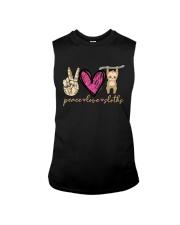 Peace Love Sloths Sleeveless Tee thumbnail