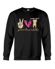 Peace Love Sloths Crewneck Sweatshirt thumbnail