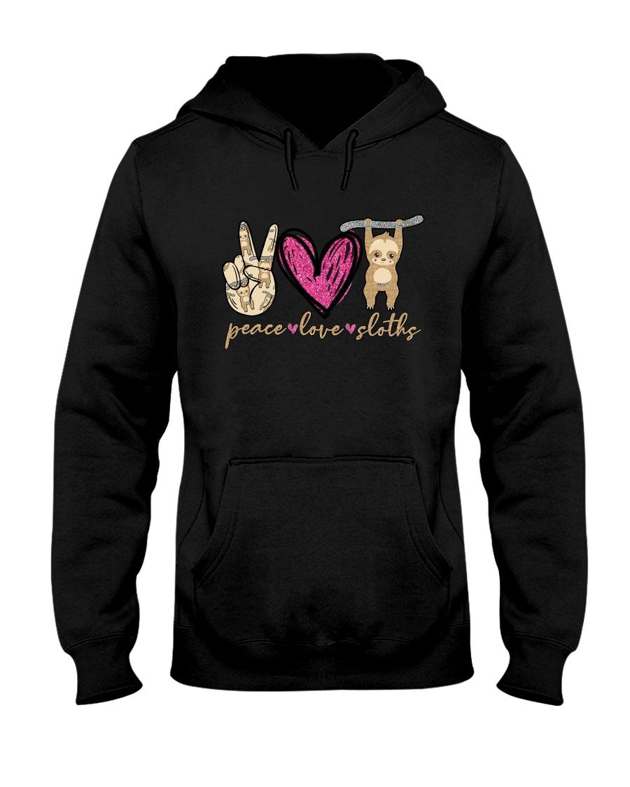 Peace Love Sloths Hooded Sweatshirt