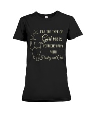 Hockey And Cats Premium Fit Ladies Tee thumbnail