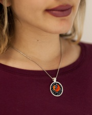 Never Forget That I Love You Metallic Circle Necklace aos-necklace-circle-metallic-lifestyle-1