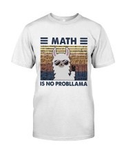Math Is No Probllama Classic T-Shirt thumbnail