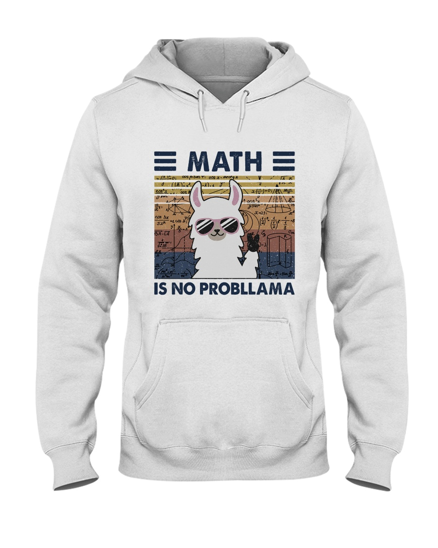 Math Is No Probllama Hooded Sweatshirt