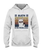 Math Is No Probllama Hooded Sweatshirt front
