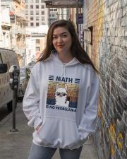 Math Is No Probllama Hooded Sweatshirt lifestyle-unisex-hoodie-front-1