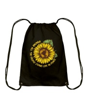 People Living Life In Peace Drawstring Bag thumbnail