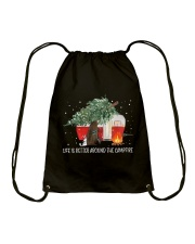 Life Is Better Around The Campfire Drawstring Bag thumbnail