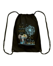 Be Kind In A World Drawstring Bag thumbnail