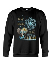 Be Kind In A World Crewneck Sweatshirt thumbnail