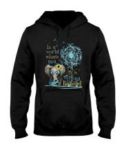 Be Kind In A World Hooded Sweatshirt thumbnail