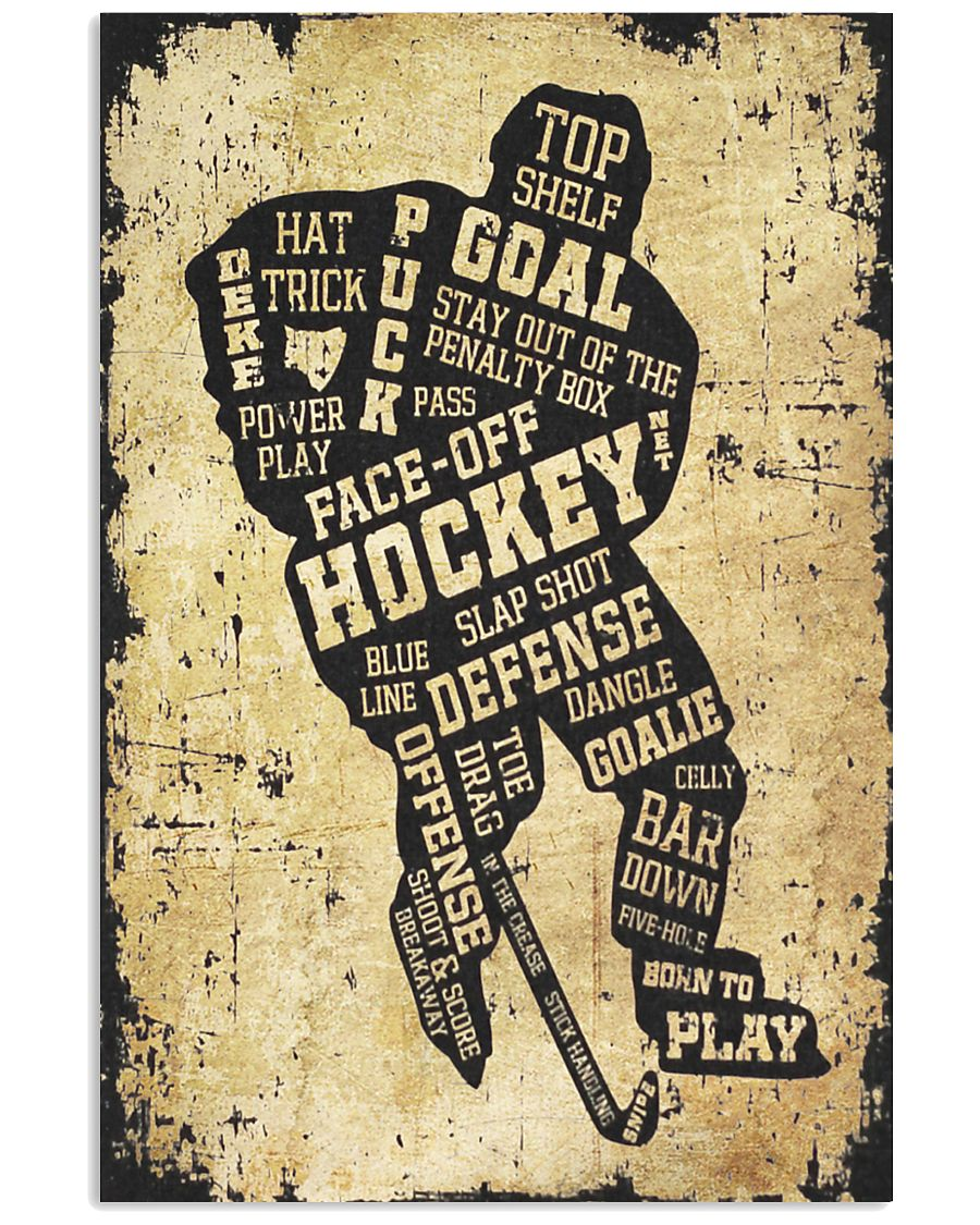 Face Off Hockey 11x17 Poster