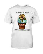 Myself What A Wonderful World Classic T-Shirt front