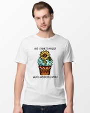Myself What A Wonderful World Classic T-Shirt lifestyle-mens-crewneck-front-15