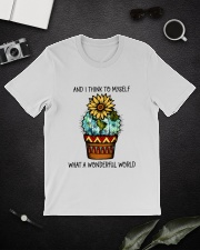 Myself What A Wonderful World Classic T-Shirt lifestyle-mens-crewneck-front-16