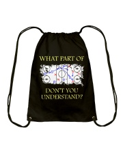 Do Not Understand Drawstring Bag thumbnail