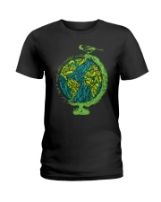 Myself What A Wonderful World 3 Ladies T-Shirt thumbnail