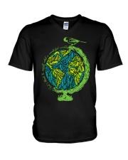 Myself What A Wonderful World 3 V-Neck T-Shirt thumbnail