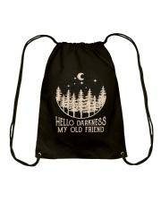 Hello Darkness My Old Friend Drawstring Bag thumbnail