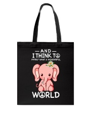 Myself What A Wonderful World 1 Tote Bag thumbnail