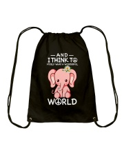 Myself What A Wonderful World 1 Drawstring Bag thumbnail