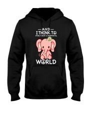 Myself What A Wonderful World 1 Hooded Sweatshirt front