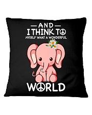 Myself What A Wonderful World 1 Square Pillowcase thumbnail
