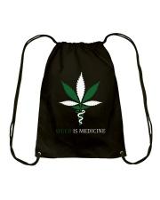 Weed Is Medicine Drawstring Bag thumbnail