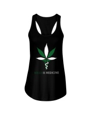 Weed Is Medicine Ladies Flowy Tank thumbnail