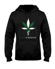 Weed Is Medicine Hooded Sweatshirt front