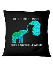 Myself What A Wonderful World 1 Square Pillowcase tile