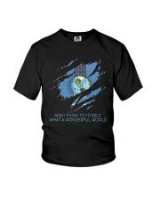 Myself What A Wonderful World Youth T-Shirt thumbnail