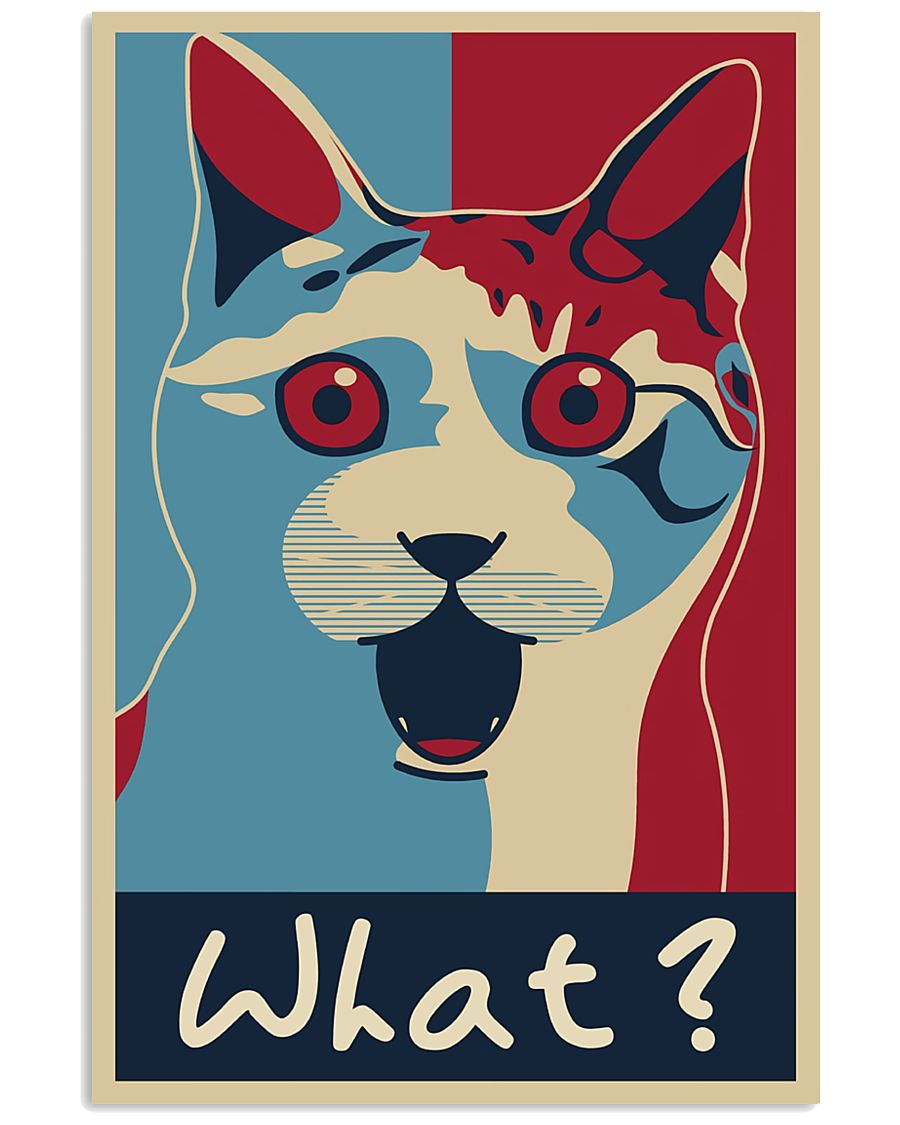 Cat Says What 11x17 Poster