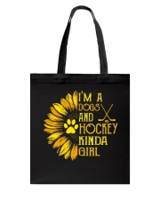 I Am A Dogs And Hockey Tote Bag thumbnail