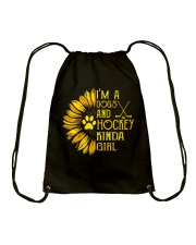 I Am A Dogs And Hockey Drawstring Bag thumbnail