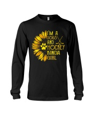 I Am A Dogs And Hockey Long Sleeve Tee thumbnail