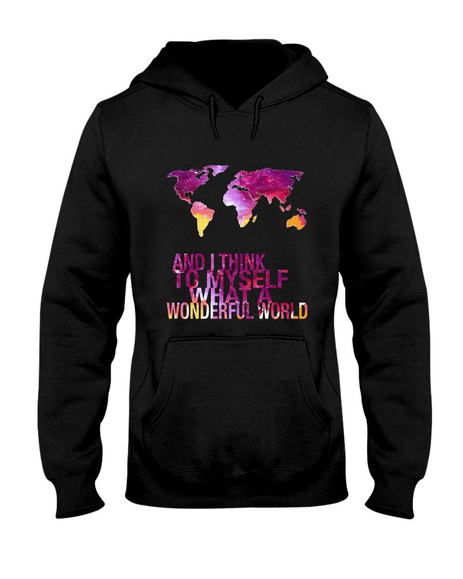 Myself What A Wonderful World 5 Hooded Sweatshirt