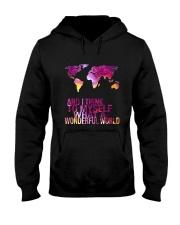 Myself What A Wonderful World 5 Hooded Sweatshirt front