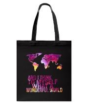 Myself What A Wonderful World 5 Tote Bag thumbnail