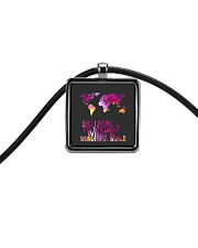 Myself What A Wonderful World 5 Cord Rectangle Necklace thumbnail
