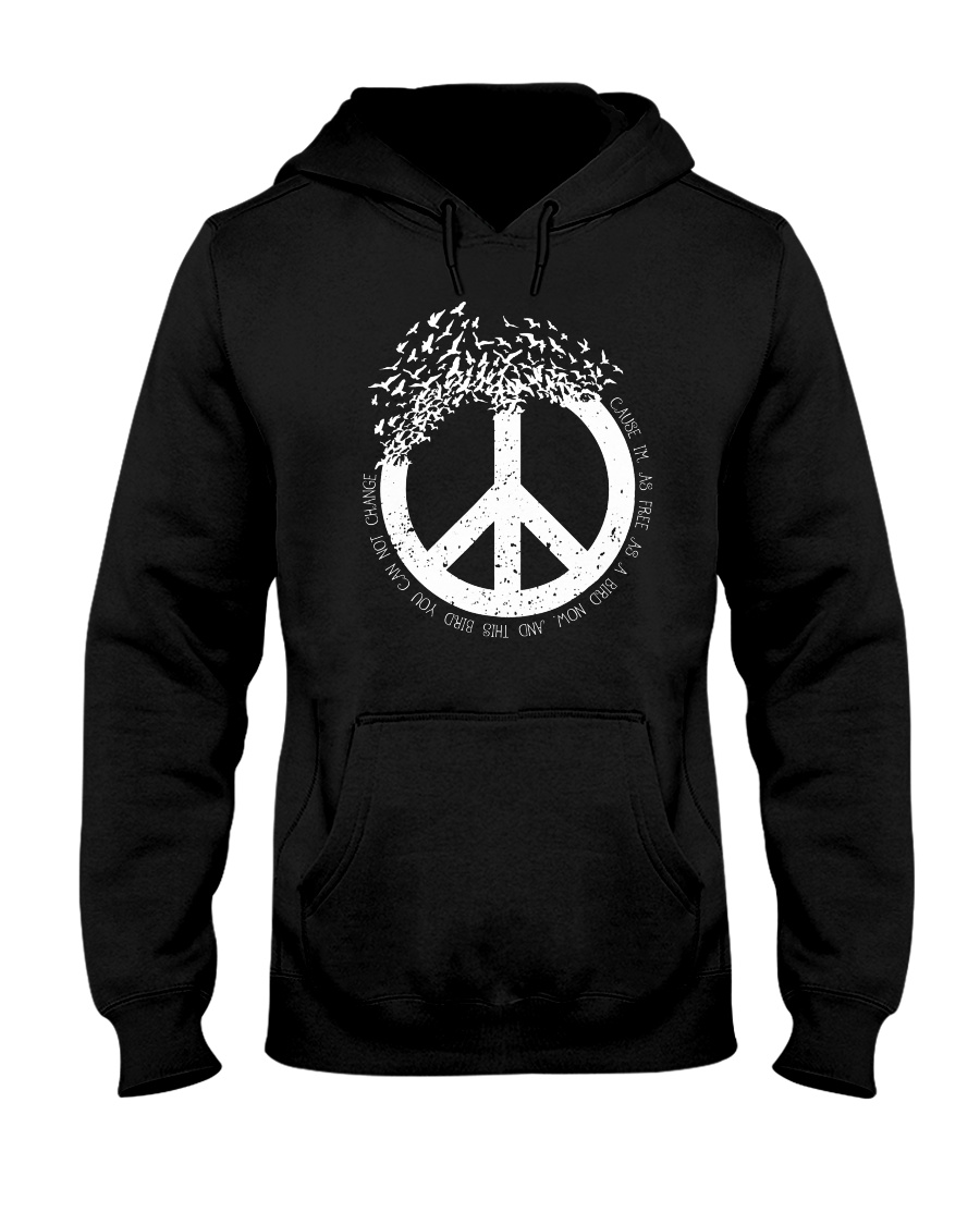Frees As A Bird A0213 Hooded Sweatshirt