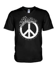 Frees As A Bird A0213 V-Neck T-Shirt thumbnail