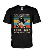 Never Underestimate V-Neck T-Shirt thumbnail
