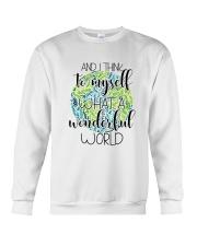 Myself What A Wonderful Word Crewneck Sweatshirt thumbnail