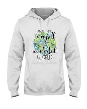 Myself What A Wonderful Word Hooded Sweatshirt thumbnail