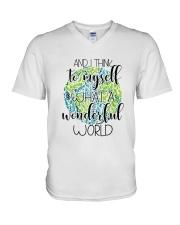 Myself What A Wonderful Word V-Neck T-Shirt thumbnail