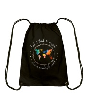Myself What A Wonderful World Drawstring Bag thumbnail