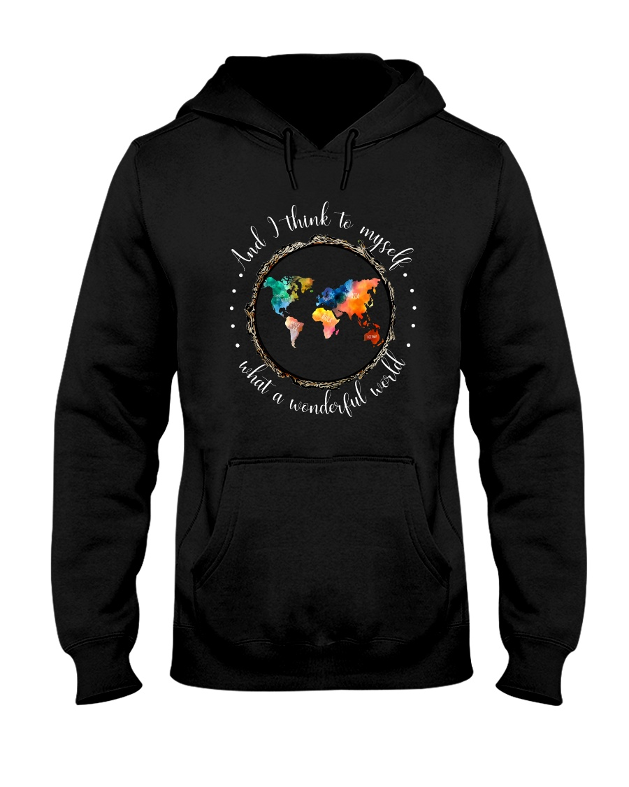 Myself What A Wonderful World Hooded Sweatshirt