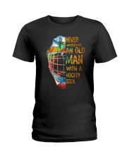 An Old Man With A Hockey Stick Ladies T-Shirt thumbnail