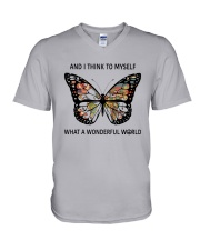 Myself What A Wonderful World 1 V-Neck T-Shirt thumbnail